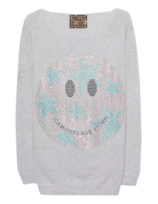 CAMOUFLAGE COUTURE STORK Smiley Light Grey
