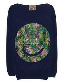 CAMOUFLAGE COUTURE STORK Smiley Navy