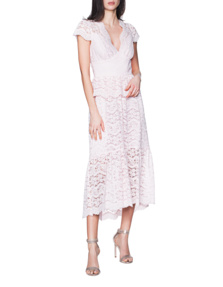 TEMPERLEY LONDON Lunar Lace V Neck Rose