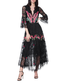 TEMPERLEY LONDON Potion V Neck Black