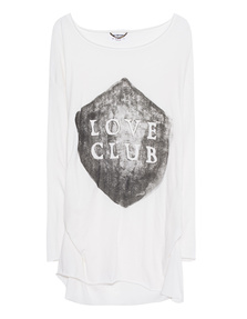One Teaspoon Longsleeve Love Club White