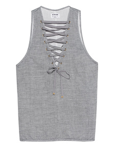 One Teaspoon Dirty Work Lace-Up Grey