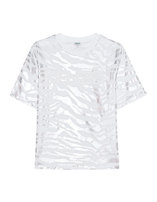 KENZO Tiger Stripes White Silver