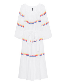 LISA MARIE FERNANDEZ Ric Rac Peasant Long White