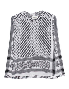 CECILIE COPENHAGEN Straight Cut Pattern Black White