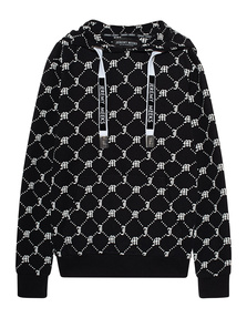 JEREMY MEEKS Hoody Allover Logo Black