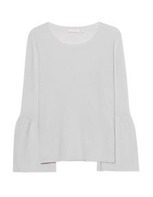 THE MERCER N.Y. Cashmere Fine Knit Light Grey