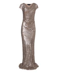 BARBARA SCHWARZER Gathered Sequin Gold