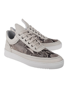 Filling Pieces Low Top Ripple Python Grey