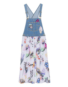 KENZO Visage x Badges Dungaree Dress