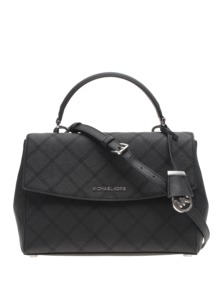 MICHAEL Michael KORS Ava Medium Saffiano Leather Black