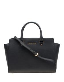 MICHAEL KORS  Selma Large Saffiano Leather Black