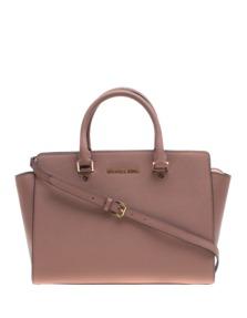 MICHAEL KORS  Selma Large Saffiano Leather Rosé