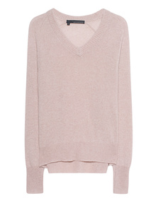 360 SWEATER Danielle V-Neck Rose