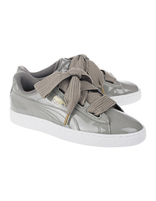 PUMA Basket Heart Patent Grey