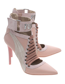 Fenty x Puma by Rihanna Lace Up Heel Silver Pink