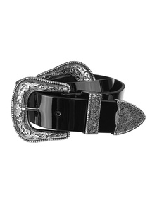 B-LOW THE BELT  Bri Bri Patent Waist Black
