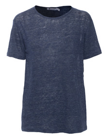 T BY ALEXANDER WANG Linen Crewneck Blue