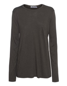 T BY ALEXANDER WANG Classic Pocket Dark Green