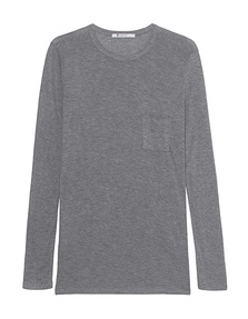 T BY ALEXANDER WANG Classic Pocket Long Heather Grey