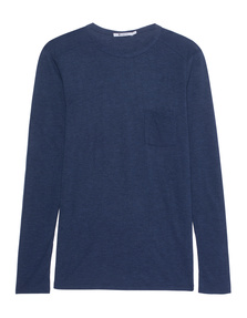 T BY ALEXANDER WANG Classic Heathered Pocket Marine