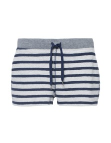T BY ALEXANDER WANG French Terry Striped Short Navy