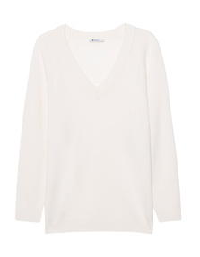 T BY ALEXANDER WANG Long V Neck Off-White