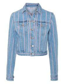 T BY ALEXANDER WANG Selvage Stripe Light Blue