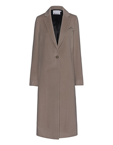 T BY ALEXANDER WANG Collared Long Car Coat Beige