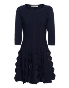 D.EXTERIOR Flared Frills Dark Blue