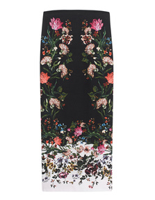 ERDEM Maira Rose Silk Black