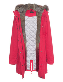 IQ BERLIN Parka Dipdye Fur Red
