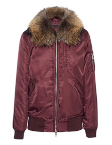 IQ BERLIN Bomber Fur Bordeaux