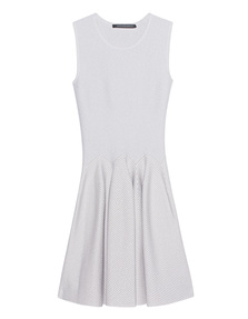 ANTONINO VALENTI Aries Skater Dress White Silver