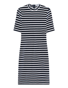T BY ALEXANDER WANG Mock Neck Stripe Navy