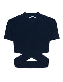 T BY ALEXANDER WANG Cross Raglan Blue