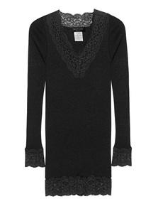 ROSEMUNDE COPENHAGEN Feminine Lace Long Black
