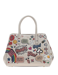 ANYA HINDMARCH Ebury Small Wink Stickers Chalk