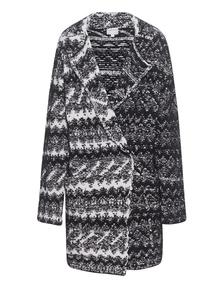 LALA BERLIN Coat Mathab Black Off-White