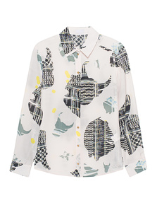 LALA BERLIN Blouse Leenea Stencil Light