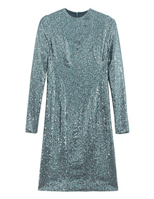 GALVAN LONDON Sequin Cocktail Petrol