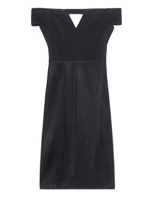 GALVAN LONDON Off The Shoulder Cocktail Dress Black