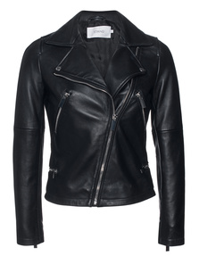 STAND Leather Biker Black