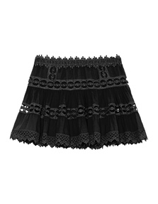 CHARO RUIZ IBIZA Hole Crochet Floral Black