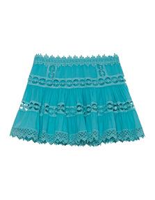 CHARO RUIZ IBIZA Hole Crochet Floral Turquoise