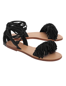 Mystique Monterey Fringes Black