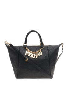 MOSCHINO Logo Embroidery Letter Black