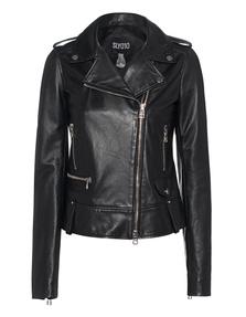 SLY 010 Leather Biker Black