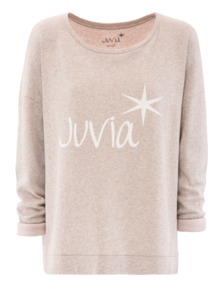 JUVIA Label Loose Sweat Heather Beige