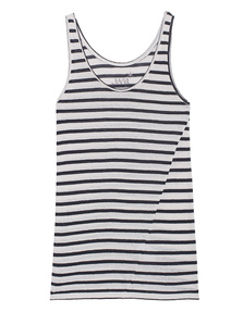 JUVIA Stripes Tank Off-White Navy